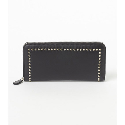 ZIP WALLET WITH STUDS