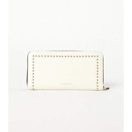 ELONGATED ZAP WALLET WITH STUDS