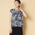 BAMBOO PRINT TOP W/BACK PLEAT 詳細画像