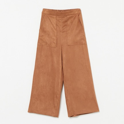 Eco Suede wide pants