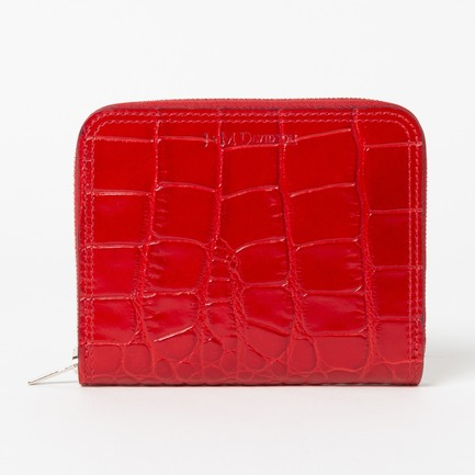 EMBOSS CROC S ZIP AROUND WALLET