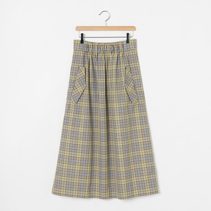 SMOCKING WAISTBAND FULL SKIRT
